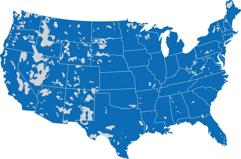 Us Celular Coverage Map Coverage